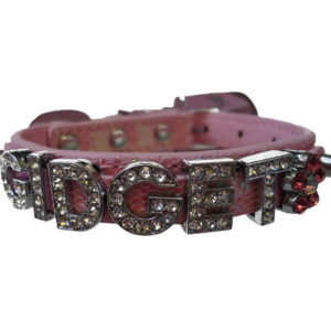 fancy pink dog collar