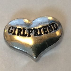 Silver girlfriend heart