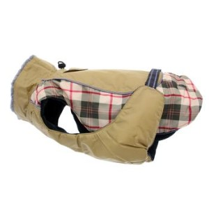 Alpine All Weather Dog Coat- Beige Plaid