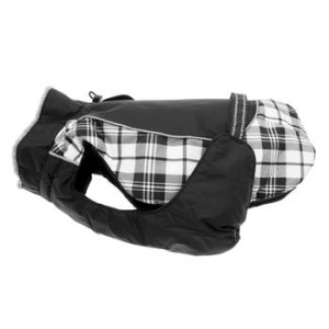 Alpine All Weather Dog Coat- Black and White