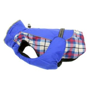Alpine All Weather Dog Coat- Royal Blue Plaid