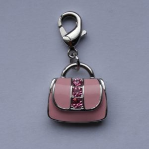 Enamel Lobster Claw - Pink Purse